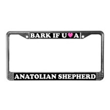 Bark Love Anatolian Shepherd License Plate Frame