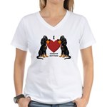 Gordon Setter Women's V-Neck T-Shirt
