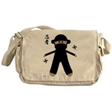 Ninja Sock Monkey Messenger Bag