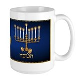 Golden Hanukkah Mug