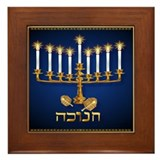 Golden Hanukkah Framed Tile