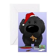 Newfie Santa's Cookies Greeting Cards (Pk of 20)