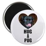 HUG A PUG (BLACK CHINESE PUG) Magnet