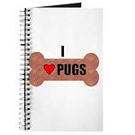 HUG A PUG (BLACK CHINESE PUG) Journal