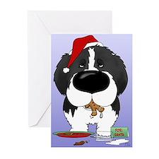 Newfie Santa's Cookies Greeting Cards (Pk of 20)