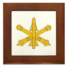Air Defense Artillery Branch Insignia Framed Tile