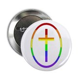 "Rainbow Cross #1 & #2 - 2.25"" Button (100 pack)"