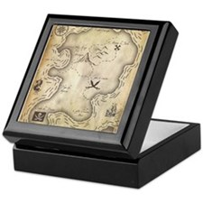 Pirate Map Keepsake Box