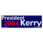 President Kerry 2004 Bumper Sticker