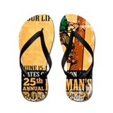 power lineman electrician Flip Flops