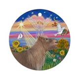Autumn Angel - Shetland Pony Ornament (Round)
