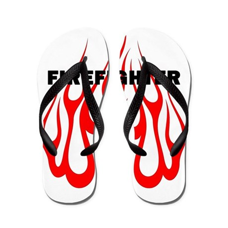 Firefighter Flames Flip Flops