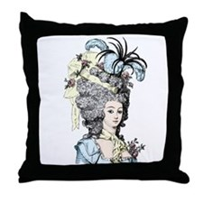 French Aristocrat (pastel) Throw Pillow