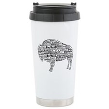 Buffalo Text Ceramic Travel Mug