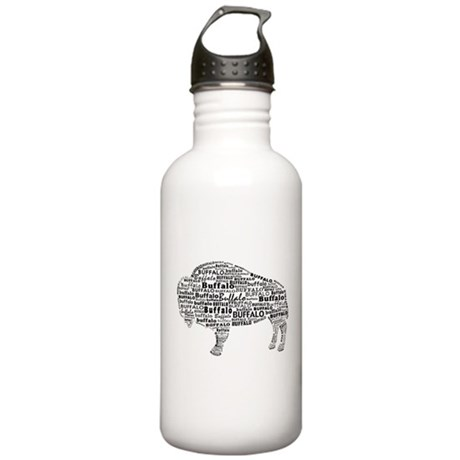 Buffalo Text Stainless Water Bottle 1.0L