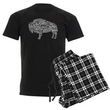 Buffalo Text Pajamas