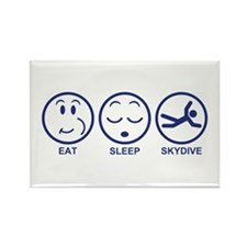 Eat Sleep Skydive Rectangle Magnet