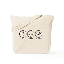 Eat Sleep Skydive Tote Bag
