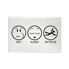 Eat Sleep Skydive Rectangle Magnet