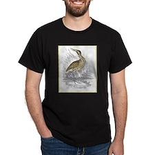 Bittern Bird (Front) Black T-Shirt