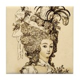 French Aristocrat (sand) Tile Coaster