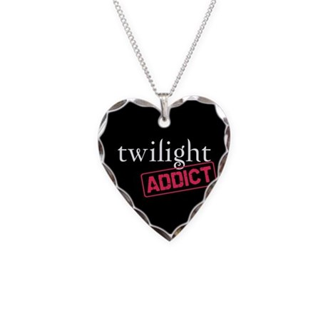 Twilight Addict Necklace Heart Charm