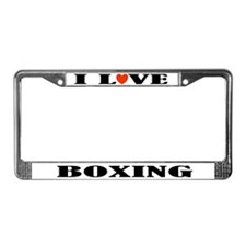 I Love Boxing License Plate Frame Gift