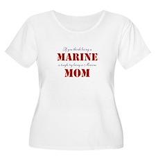 Tough Marine Mom Plus Size T-Shirt