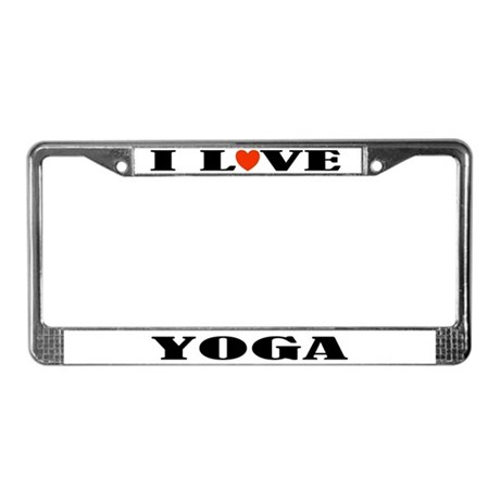 Yoga Lover License Plate Frame