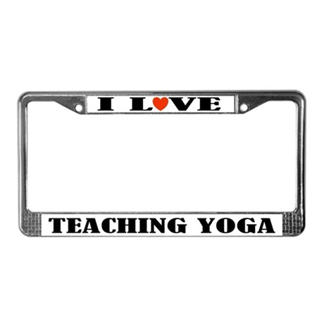 Yoga Instructor License Plate Frame