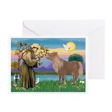 StFrancis/Shetland Pony Greeting Cards (Pk of 10)
