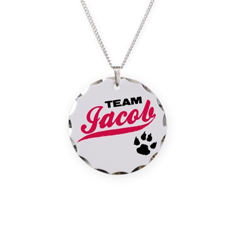 Team Jacob Twilight Necklace Circle Charm