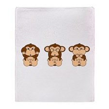 Hear, See, Speak No Evil Throw Blanket