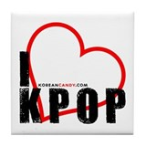 Korean Candy I <3 KPOP Tile Coaster