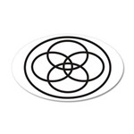 Plural Pride (Symbol only) - 38.5 x 24.5 Oval Wall