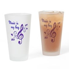Music is my bag Drinking Glass