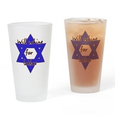 Will Whine for Latkes Drinking Glass