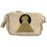 All Seeing Eye Pyramid 2 Messenger Bag