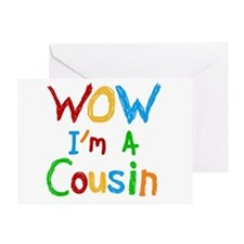 WOW I'm a Cousin Greeting Card