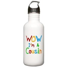 WOW I'm a Cousin Water Bottle