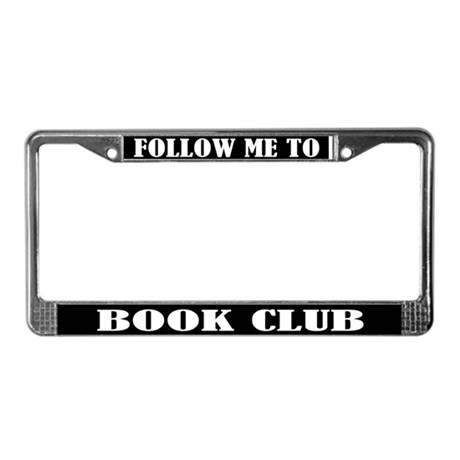 Book Club Gift License Plate Frame