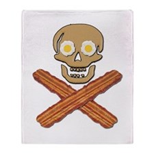 Food Pirate Bacon Eggs Throw Blanket