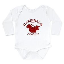 Cardinals Rally Squirrel Long Sleeve Infant Bodysu