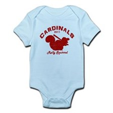 Cardinals Rally Squirrel Infant Bodysuit
