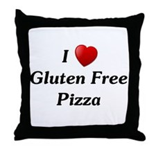 I Love Gluten Free Pizza Throw Pillow