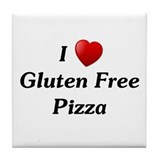 I Love Gluten Free Pizza Tile Coaster