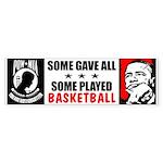"""Some Played Basketball: Obama"" Sticker"