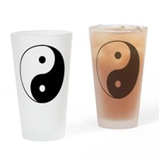 Yin & Yang (Black/White) Drinking Glass