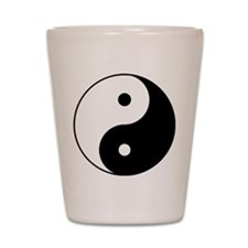 Yin & Yang (Black/White) Shot Glass