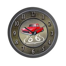 Route 66 Chevy Truck Wall Clock